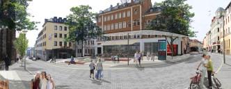 Hof/Saale: Sonnenplatz, Aufwertungskonzept (Bildmontage)