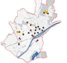 Schweinfurt: Verteilung der Brachflächen und fehlgenutzten Flächen im Stadtgebiet