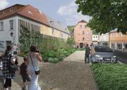 Arzberg: Freiflächenentwicklung an der Rathausstraße (Visualisierung: freiraumpioniere)