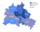 Klimaneutrales Berlin 2050: Sozialverträglicher Klimaschutz setzt Stadtkenntnis voraus: Anteil der Mietwohnungen am Wohnungsbestand in den Berliner Bezirken 2009