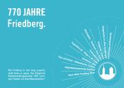 Friedberg, Werbeflyer zum ISEK in der Grafik des gleichzeitigen 750-Jahr-Stadtjubiläums