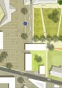 Platz-Straßen-Detail zwischen 'Oberem Hof' und 'Haus des Gastes'