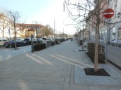 Ansbach: die neu gestaltete Promenade
