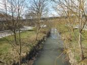 Ansbach: Fränkische Rezat im Bereich des Brückenzenters