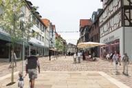 Frankenberg, Visualisierung der Neugestaltung der Fußgängerzone in  © Büro UmbauStadt