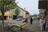 Hof: Beispielhafte Neugestaltung des Straßenraums (Visualisierung)