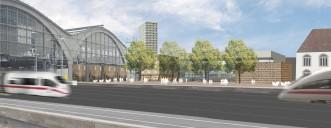Leipzig: Stadtterrasse (Bildmontage)