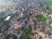 Scheidegg: Luftbild des Ortskerns