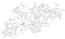 Gemeinde-Allianz Hofheimer Land: Allianzgebiet und Mitgliedsgemeinden